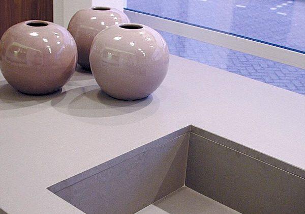 Quartz. countertop, grey