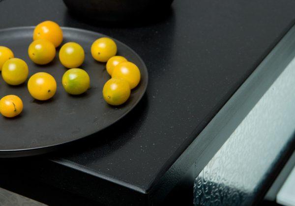 Quartz, countertop, black