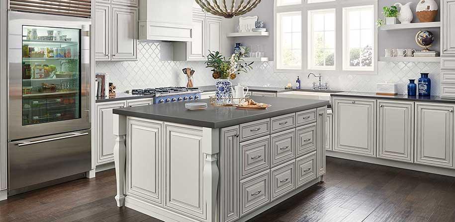 Mystic Gray Quartz Absolute Kitchen Amp Granite