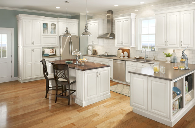 Cabinets. Bayport Arch Paint Grade Snowflake