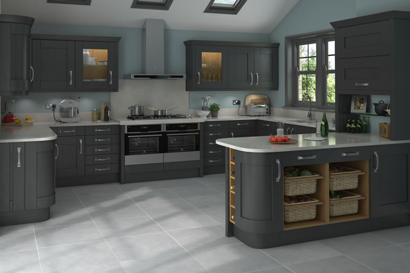 Shaker Clifton Paint Grade Graphite Absolute Kitchen