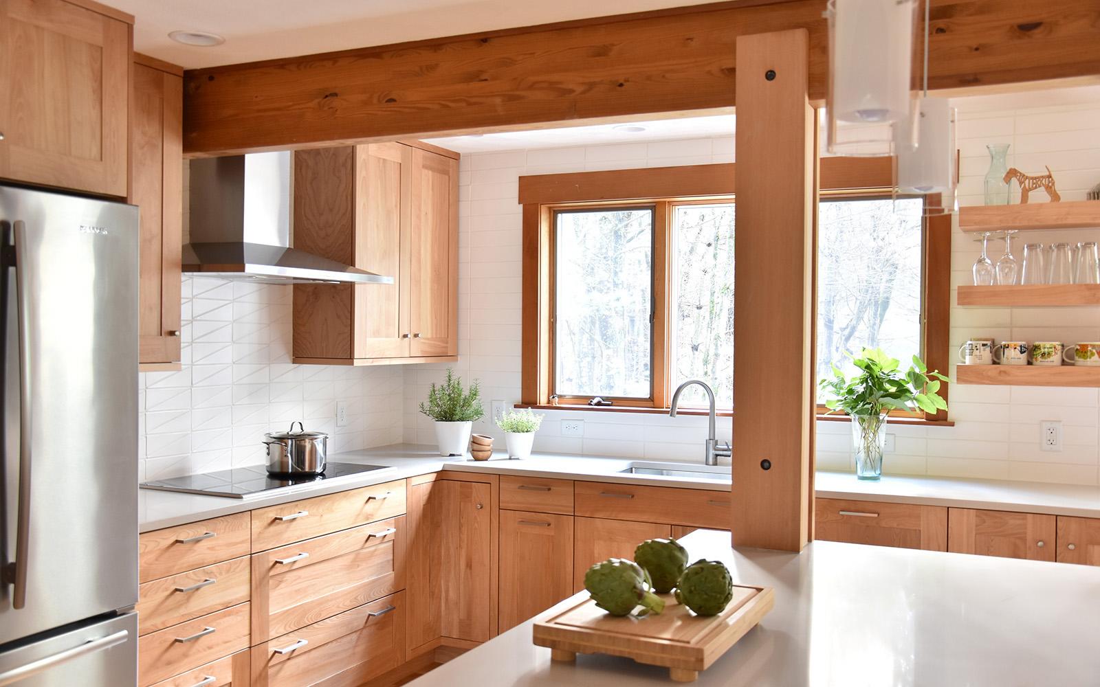 Shaker Colonial Rift Cut White Oak Rye Absolute Kitchen