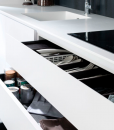 White High-Gloss Drawers